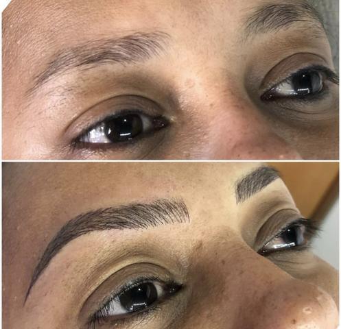 Micropigmentação Antes e Depois estético