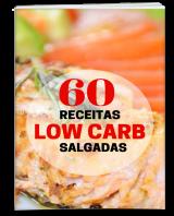 Este ebook contém 60 receitas salgadas com poucos carboidratos