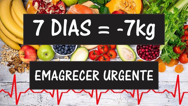 Quero Emagrecer 7kg Urgente em 1 Semana